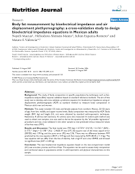Validation Study Design Body Fat Measurement By Bioelectrical Impedance And Air