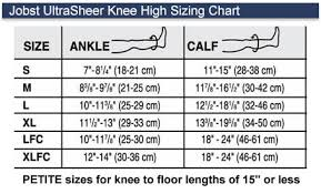 Jobst Travel Socks Size Chart Jobst Ultrasheer Knee High