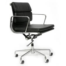 eames style office chairs. Eames Style Soft Pad Leather Office Chair - Black | NEXT DAY DELIVERY LIMITED STOCK Chairs