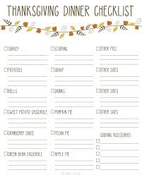 Thanksgiving Grocery List Template Printable Thanksgiving Dinner Checklist And Recipes