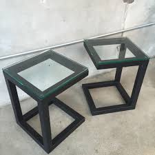 glass nightstand  minimalistic design