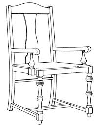 chair drawing. vintage chair drawing