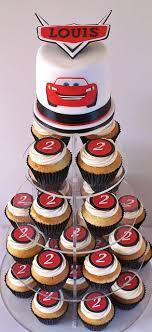 Disney Cars Cupcake Tower Blakes Birthday Party Ideas Cars