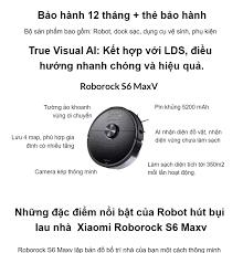 Bản quốc tế Robot hút bụi lau nhà Xiaomi Roborock S6 Maxv – Bảo hành 12  Tháng