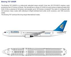 Air Astana Airlines Boeing 767 300er Aircraft Seating Chart