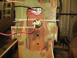jd model m wiring diagram yesterday s tractors power comes from the ammeter to both the ignition switch and cut out relay