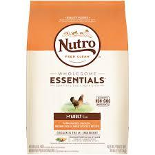 Nutro Wholesome Essentials Adult Dry Dog Food Farm Raised Chicken Brown Rice Sweet Potato Recipe 30 Lb Bag Walmart Com