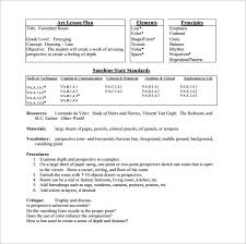 Elementary Art Lesson Plans Elementary Lesson Plan Template 11 Free Word Excel Pdf