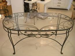 dining table bases for glass tops. Vintage Oval Glass Dining Table With Wrought Iron Frame Coffee Base Top Bases For Tops O