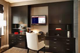 home office wall cabinets. Contemporary Home Office Design With Kitchen Cabinets Wall L