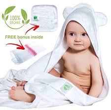 Organic Bamboo Hooded Baby Towel and Washcloth Set | Extra Large ...