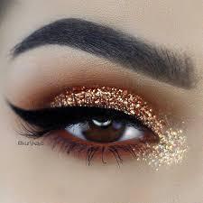 gold glitter eye makeup