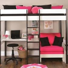 photos of metal frame for loft bed with futon and desk … | My dream ...