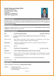 A Good Resume Format Custom 28 Good Resume Format For Freshers Plasticmouldings