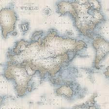 mercator cream world map wallpaper