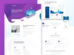 Free Modern Startup Landing Page Template By Andy Khan Dribbble