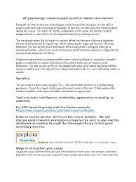 ap psychology research paper practice