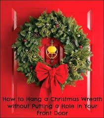 how to hang a wreath on front door ways to hang wreaths on doors how wreath how to hang a wreath on front door