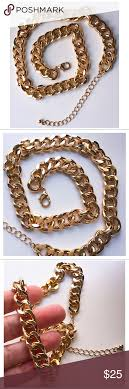 jcp fashion necklace large link gold tone metal in 2018 my posh and jcpenney jewelry necklaces