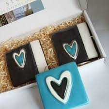 turquoise ceramic heart tiles contemporary ceramics on wall art tiles nz with 25 best nz gifts wall art tiles and more images on pinterest art