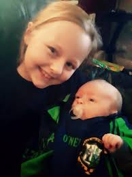 """Letitia Wade on Twitter: """"Best of luck today @liammellowsgaa from Saoirse  Wade U8s camogie on her way to Thurles and her little brother Senan  #MellowsAbú youngest fan at 6 weeks old @Galway_GAA @"""