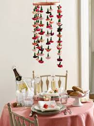 ... Dining Room Decorating With Creative Flower Arrangement, Hanging  Carnations In White, Pink And Red