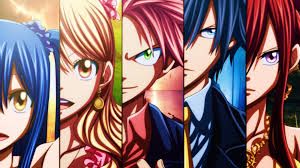 1920x1080 anime fairy tail gray fullbuster erza scarlet lucy heartfilia natsu dragneel wendy marvell wallpaper