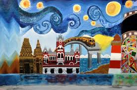 wall painting at chennai central station by nift chennai on wall art painters in chennai with wall painting at chennai central station by nift chennai swachh