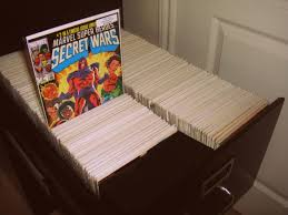 An example of using a filing cabinet to store comics books - comic book  storage solutions