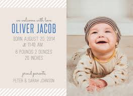 Baby Announcement Cards Cute Stripes Baby Announcement Cards