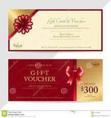 Coupon Format Template Gift Certificate Voucher Gift Card Or Cash Coupon Template In
