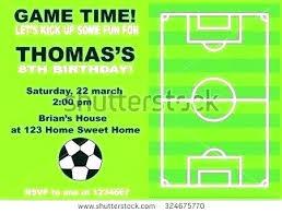 Free Football Invitation Templates Football Birthday Invitations Party Templates Free Soccer