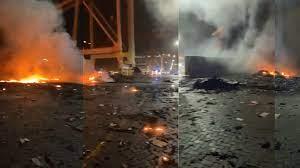 قوة الانفجار هزت منازل سكان دبي والنيران انتشرت في كل مكان.. هذا ما حصل في  ميناء جبل علي (فيديو) | وطن يغرد خارج السرب