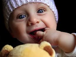 hd wallpaper cute baby playing doll hd