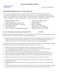 Responsibilities Of A Marketing Director Dance Resume Example