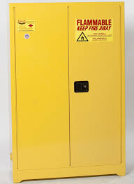 metal storage cabinet yellow. Flammable Liquid Safety Storage Cabinet, 45 Gal. Yellow, Two Door, Manual Close Metal Cabinet Yellow S