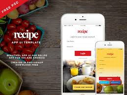 Free Recipe App Ui Psd For Ios And Android Follow On Behance