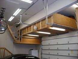 homemade overhead garage storage build