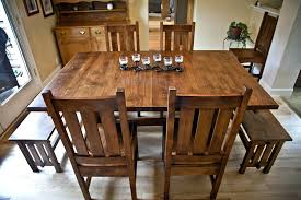 mission style dining room sets jcemeralds co within craftsman table prepare 6