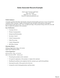 Cashier Sales Associate Resume Rome Fontanacountryinn Com