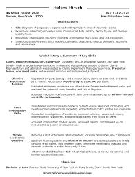supervisor resume qualifications claims department manager supervisor resume helene hirsch supervisor resume sample