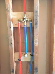 pex on shower tub rough in plumbing diy home improvement use pex shower valve replacement