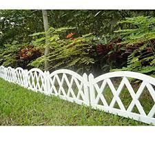 worth garden plastic fence pickets