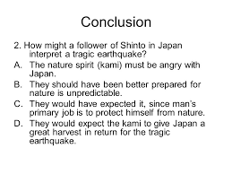 bellwork th review from yesterday announcement  how might a follower of shinto in interpret a tragic earthquake