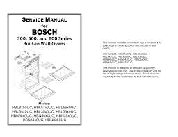 bosch hbl56 service manual