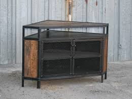 industrial diy furniture. Cool DIY Industrial Corner TV Stands Made From Wood And Metal With Storage Door Ideas Diy Furniture A