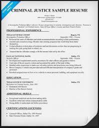 free criminal justice resume templates - Criminal Justice Resume