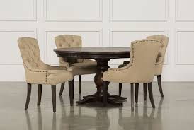 Living Spaces Dining Table Set Jefferson Extension Round Dining Table Living Spaces