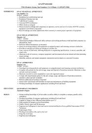 Hvac Apprentice Resume Samples Velvet Jobs Examples S Sevte