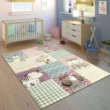 Details Zu Kinderteppich Kinderzimmer Konturenschnitt Lustige Tiere Bunt Pastellfarben